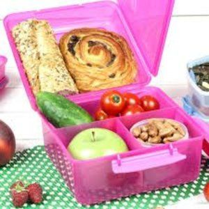 Sistema Lunch Cube Max with Drink Bottle Hot Pink